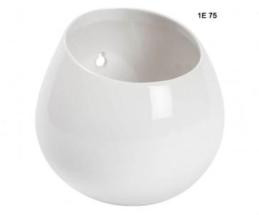 Závěsný květináč bílý č.1