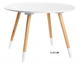Odkládací stolek střední bílý