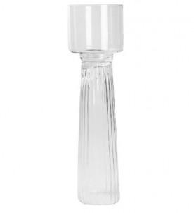 Podlahový ručně vyráběný skleněný svícen č.1