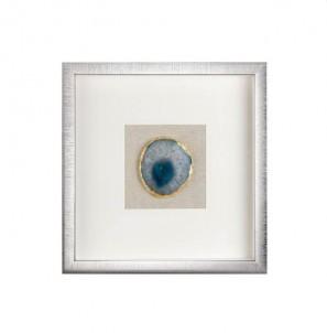 Dekorativní panel achát  modrý č.1