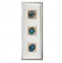 Obdélníkový dekorativní panel modrý achát