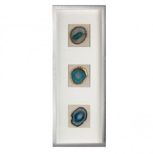 Obdélníkový dekorativní panel modrý achát č.1