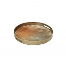 Kulatý servírovací podnos bronzový malý