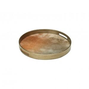 Kulatý servírovací podnos bronzový malý č.1