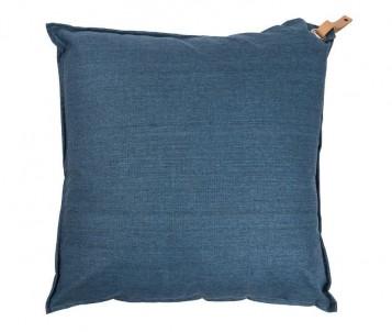 Polštář s koženým ouškem modrý č.1