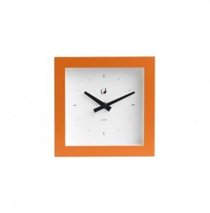 Moderní hodiny piccolo oranžové č.1