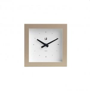 Moderní hodiny piccolo hnědé č.1