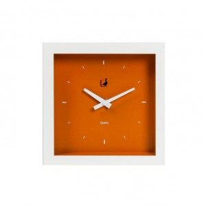 Moderní  hodiny grande oranžové č.1