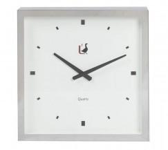 Moderní hodiny na stěnu šedé