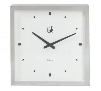 Moderní hodiny na stěnu šedé č.1
