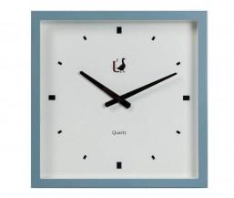 Moderní hodiny na stěnu modré