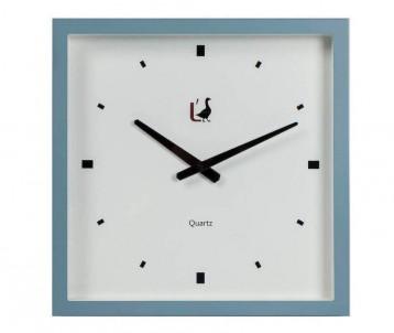 Moderní hodiny na stěnu modré č.1