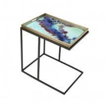 Obdélníkový odkládací stolek Barevný