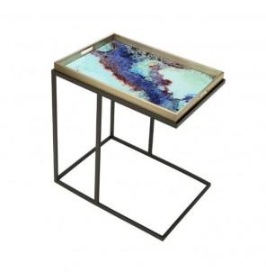 Obdélníkový odkládací stolek Barevný č.1