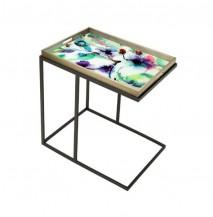 Obdélníkový odkládací stolek Barevné květy