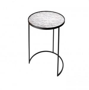 Kulatý odkládací stolek Stíny větví č.1