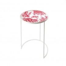 Odkládací stolek kulatý  ohnivý korál