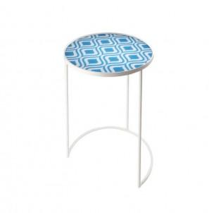 Odkládací stolek kulatý paví oko č.1