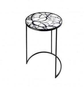 Kulatý odkládací stolek Křivky č.1