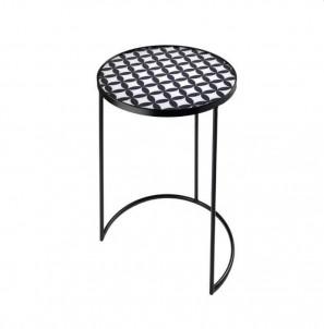 Kulatý odkládací stolek Moderní vzor č.1