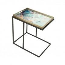 Obdélníkový odkládací stolek Barevná tráva