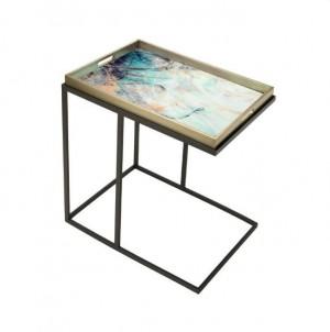 Obdélníkový odkládací stolek Barevná tráva č.1