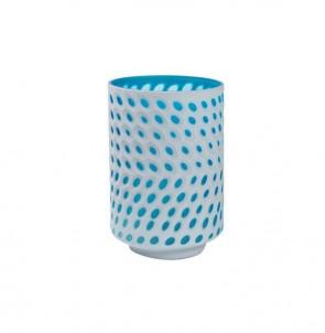 Bílo modrá váza malá č.1