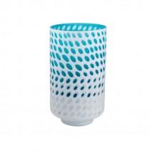 Bílo modrá váza vysoká