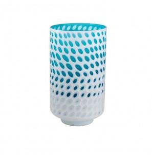 Bílo modrá váza vysoká č.1
