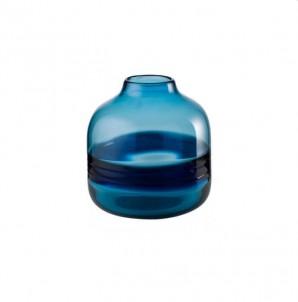 Váza kobaltová modř nízká č.1