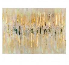 Abstraktní obraz Zlatý déšť
