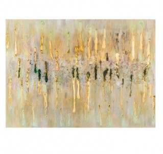 Abstraktní obraz Zlatý déšť č.1
