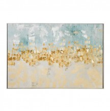 Abstraktní obraz Zlaté nebe