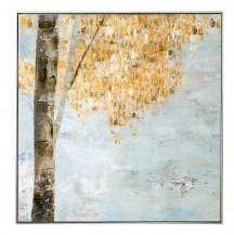 Abstraktní obraz Zlaté ráno