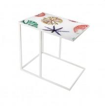 Obdélníkový odkládací stolek mořské motivy