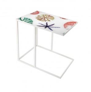 Obdélníkový odkládací stolek mořské motivy č.1