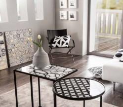 Obdélníkový odkládací stolek Křivky