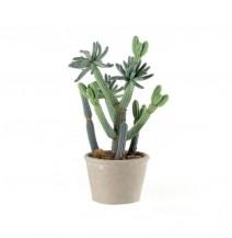 Dekorační kaktus v přírodním květináči