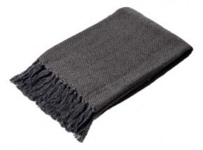 Hladký tkaný pléd Melanie - charcoal