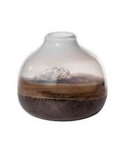 Skleněná abstraktní váza Claya