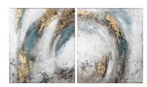 Dvoudílný abstraktní obraz Storm