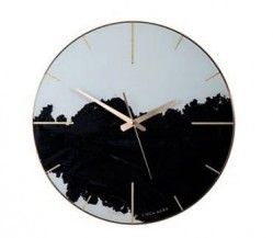 Nástěnné hodiny Inked Black