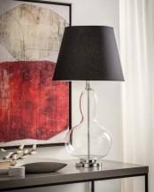Stolní lampa Glase černá